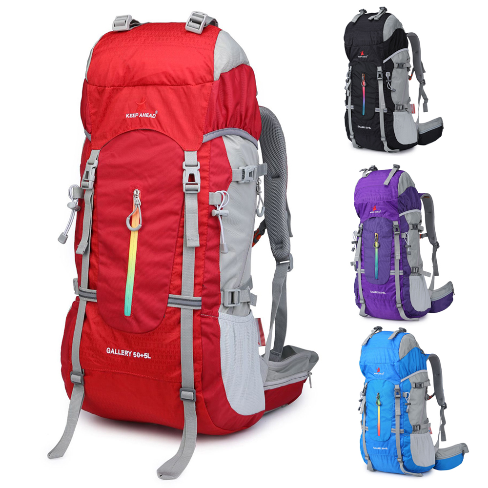 Nouveau 55L sac à dos en plein air Camping escalade sac étanche alpinisme randonnée sacs à dos Molle Sport sac escalade sac à dos