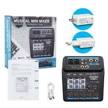 Портативный 4 канальный цифровой аудио микшерный пульт с bluetooth