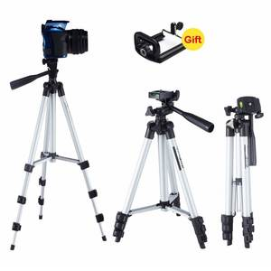 Long tripod Camera Shutter Clip Holder Tripod Sets For phone Stand holder Camera Tripod & Ball Head & phone clip Carry Bag