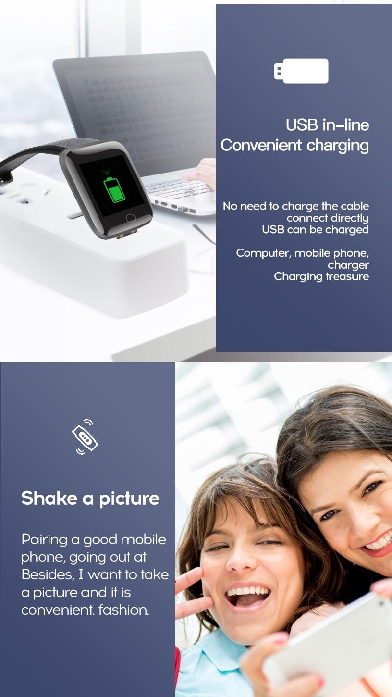 H04c51f18e98f4f738ac46f5b45cee75dI Smart Watch Men Women Smartband Blood Pressure Measurement Waterproof Fitness Tracker Bracelet Heart Rate Monitor Smartwatch