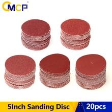 Hook Sandpaper-Disk Grit CMCP 125mm/5inch 20pcs Loop Round 60/80/100-/..