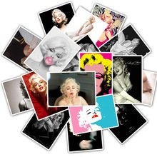25Pcs Singer and Actress Marilyn Monroe Stickers Popular Car  Laptop Suitcase Car Motor Guitar Skateboard