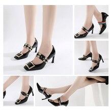 1 пара высокие каблуки шнурки новинка резинка для женщин новая мода ленивый шнурки без галстука шнурки пряжка