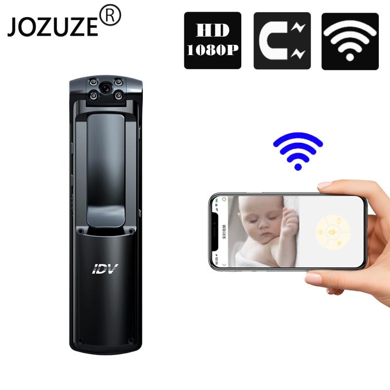 JOZUZE Mini Camera Recording Body-Cam Wifi Motion-Detection Small Wireless Worn