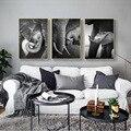 Надпись «слон», Черное и белое животное, pintura em tela arte cartaz Image em da parede, скандинавский декор, tema amor