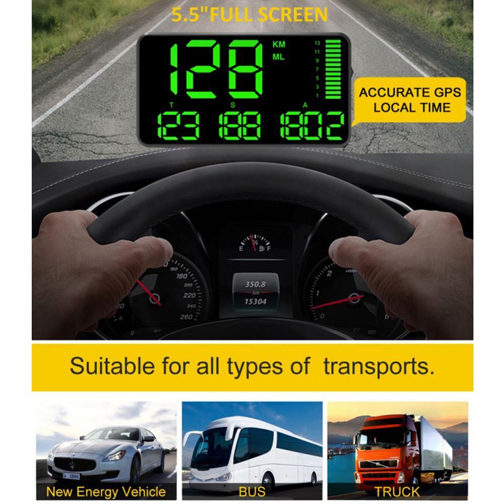 C90 GPS HUD Speedometer 5.5