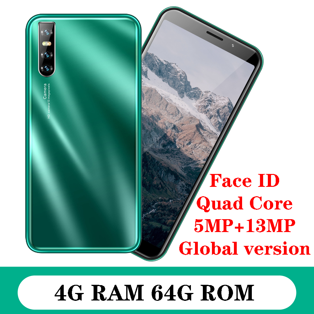 P40 Global Versie Wifi Smartphones 4G Ram 64G Rom Quad Core Android Mobiele Telefoon 6.0 Inch 13MP Camera gezicht Id Ontgrendeld Celulares