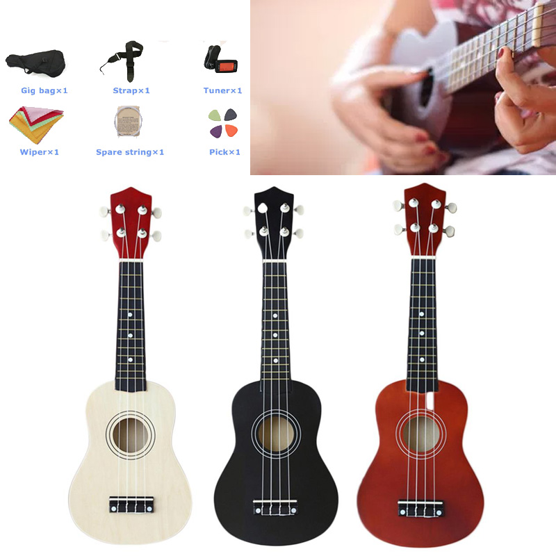 Ukulele Fashion Professional 21 Inch 1 Set All in One New Year Gift Beginner Starter Guitar Helpful Portable HOME Practice image
