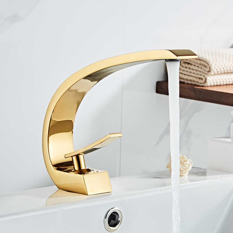 OEWFM Grifo Grifos de lavabo Mango de cristal de lat/ón dorado Grifo de ba/ño Grifo de ba/ño Mezclador de inodoro Grifo de agua Lavabo montado Grifo de lavabo Grifos de gr/úa