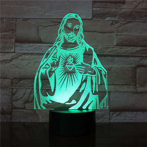 Lampe Led Jesus 7 Colors Chang
