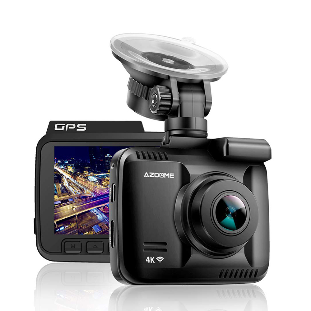 GS63H 4K Built in GPS WiFi <font><b>Car</b></font> <font><b>DVRs</b></font> Recorder Dash Cam Dual Lens Vehicle Rear View Camera Camcorder Night Vision Dashcam image