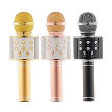 Детский беспроводной игрушечный микрофон для караоке портативный Bluetooth караоке плеер динамик-микрофон аудио микрофон караоке устройство
