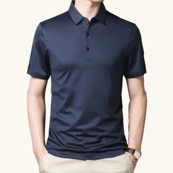 Summer Mens Mulberry Silk Short Sleeve Polo Shirts Turn-over Collar Solid Color Polo Shirt Men High Quality Business Stylish Top polo shirt men summer new high quality mens short sleeve polo shirt casual men stand collar fashion mens business polo shirt8636