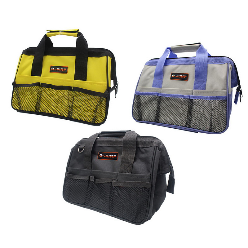 1PC Tool Bag Hardware Toolkits Multi-function Portable Bag High Quality Zipper Canvas Storage Bags 3 Colors