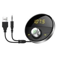 Автомобильный Bluetooth AUX аудио воспроизведение громкой связи Автомобильный 3,5 мм разъем аудио MP3-плеер с TF слотом беспроводной fm-передатчик Ав...