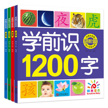 4 PCS 1200 Chinese Characters Literacy Before School with Pinyin and Colorful Pictures / Kids Children Early Education Textbook stackhouse wells children s speech and literacy bk1