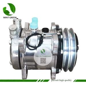 Image 1 - Sanden 505 SD505 5h14 Auto AC Compressor for Tractor Excavator Heavy Duty Truck 12V / 24V 2 Groove V Blet Pulley