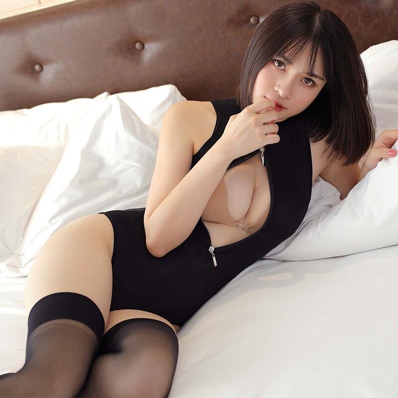 Женское сексуальное нижнее белье на молнии с открытой пилкой Thoracotomy с высокой вилкой, плотный комбинезон, товары для взрослых