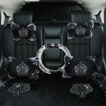 Зимний автомобильный Стайлинг для женщин интерьер подголовник