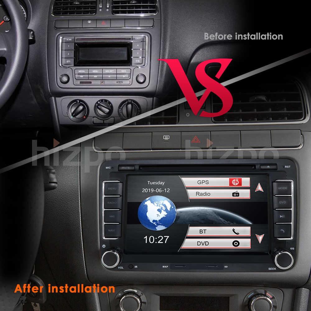 2 Din 7 дюймов Автомобильный DVD gps радио плеер для Volkswagen golf 5 6 touran passat B6 B7 sharan JATTA Skoda Seat Авторадио Бесплатная камера