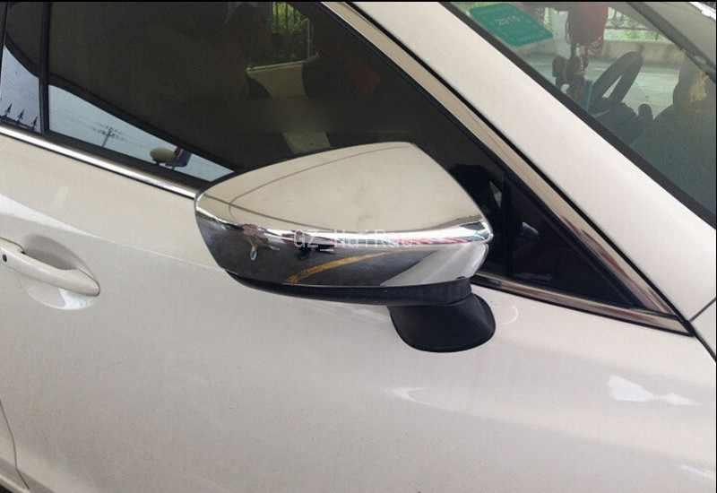 2 sztuk ABS Chrome lusterka boczne pokrywa tylna tapicerka dla Mazda 3 AXELA M3 2014 2015
