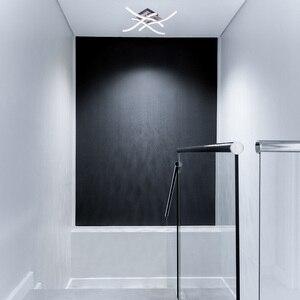 Image 5 - Luces de techo LED modernas, mando a distancia para sala de estar, dormitorio, lámpara tipo plafón de aluminio, 28W