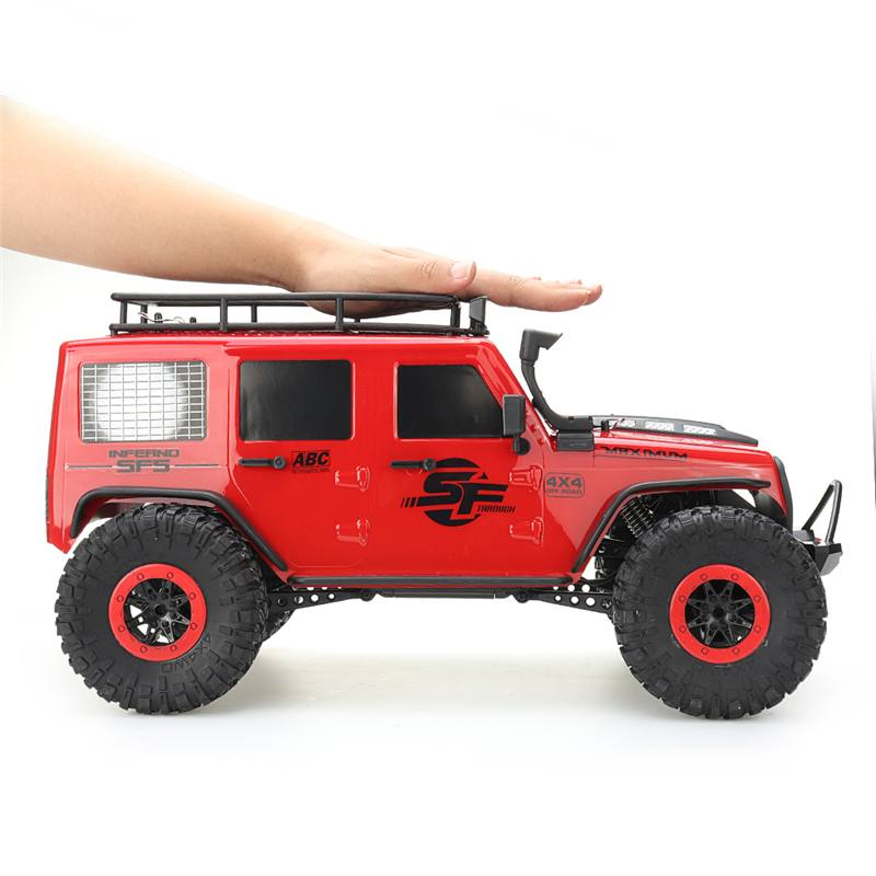 Wltoys RC Car 1/10 2.4G 4X4 Crawler RC Car Toy Desert Mountain Rock Control Vehicle Models Truck With Two Motors Head Light image