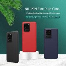 NILLKIN Samsung Galaxy S20 Ultra ince deri kapak sıvı silikon pürüzsüz koruyucu arka kapak için Galaxy S20 artı Samsung s20