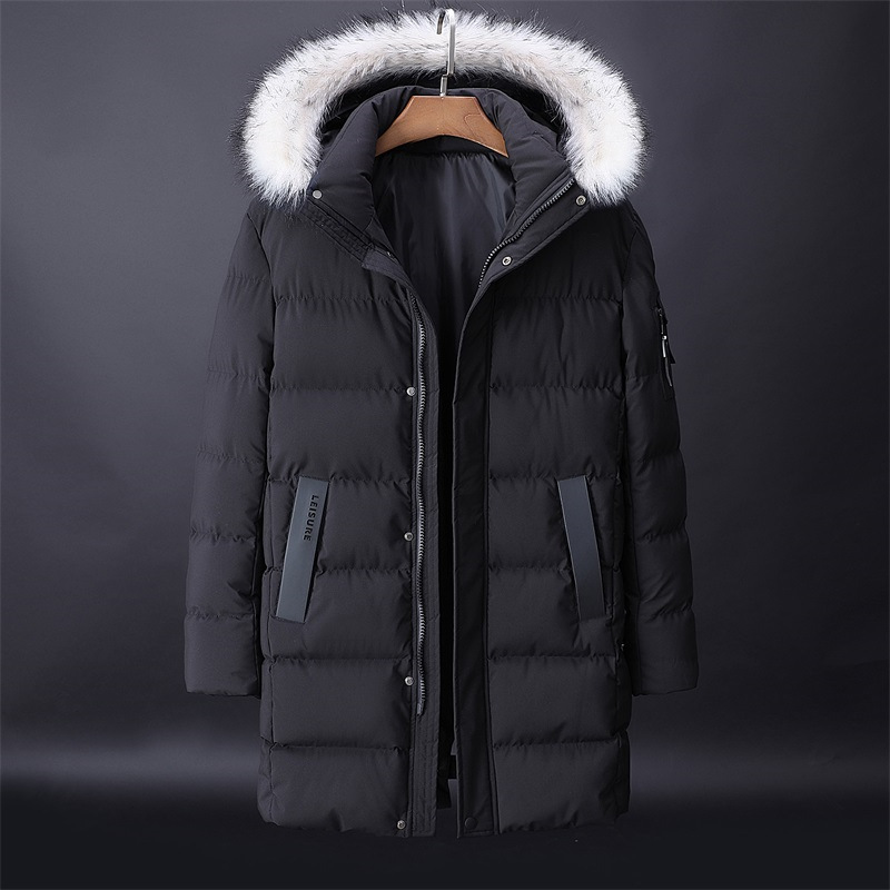 -30 C FIT Plus Thick Velvet Down & Parka Coat 6XL 7XL 8XL 9XL 2019 Brand Keep Warm Winter Jacket Men's Windbreaker