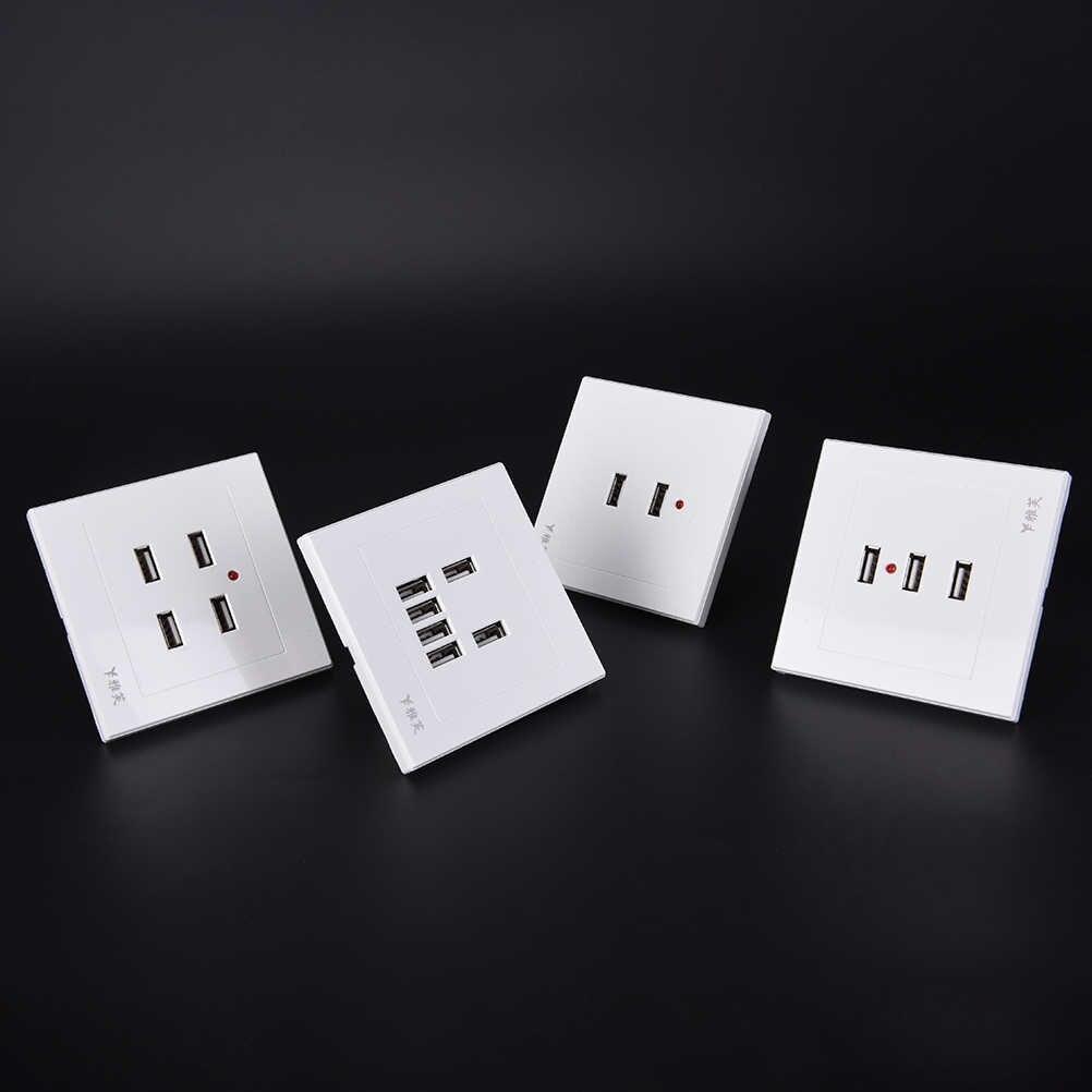 3.1A 전기 벽 충전기 독 스테이션 소켓 전원 콘센트 패널 플레이트 스위치 전원 어댑터 플러그 DC 2/3/4 포트 USB 5V
