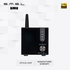 Image 1 - SMSL SA300 HiFi wzmacniacz mocy cyfrowy wzmacniacz dźwięku Bluetooth 5.0 32bit/384kHz Subwoofer z pilotem niebieski i czerwony i czarny