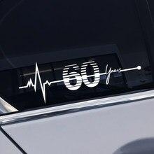 Voiture anniversaire 60 ans fenêtre latérale coffre queue autocollants autocollants pour MINI Cooper R50 R52 R53 R55 R56 R60 R61 F60 accessoires de voiture