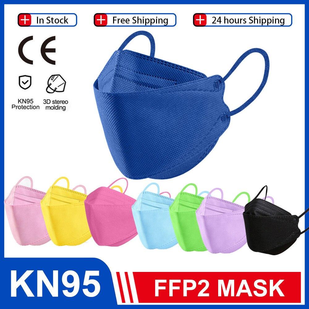 Fish KN95Mascarillas Color FFP2MASK Reusable FFP3 Filter Dust Face Mask Black Adult KN95MASK Protective FFP2 Masken CE FPP2