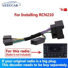 Lexucar Car Radio RCN210 Convert Plug Decoder Solve Bluetooth Problem Multifunction Steering Wheel Button Control Canbus gateway
