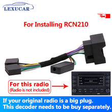 Lexucar rádio de carro, rádio de carro rcn210, conversor plug, decodificador, problema bluetooth, multifuncional, controle de volante, gateway canbus