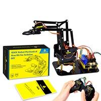 Keyestudio 4DOF Acryl Spielzeug Roboter Mechanische Arm Klaue Kit für Arduino Arm Kit DIY Roboter