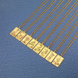 Dawapara Shadowscapes Tarot The First Set of Cards Pendant Necklace The Major Arcana Tarot Cards Stainless Steel Jewelry
