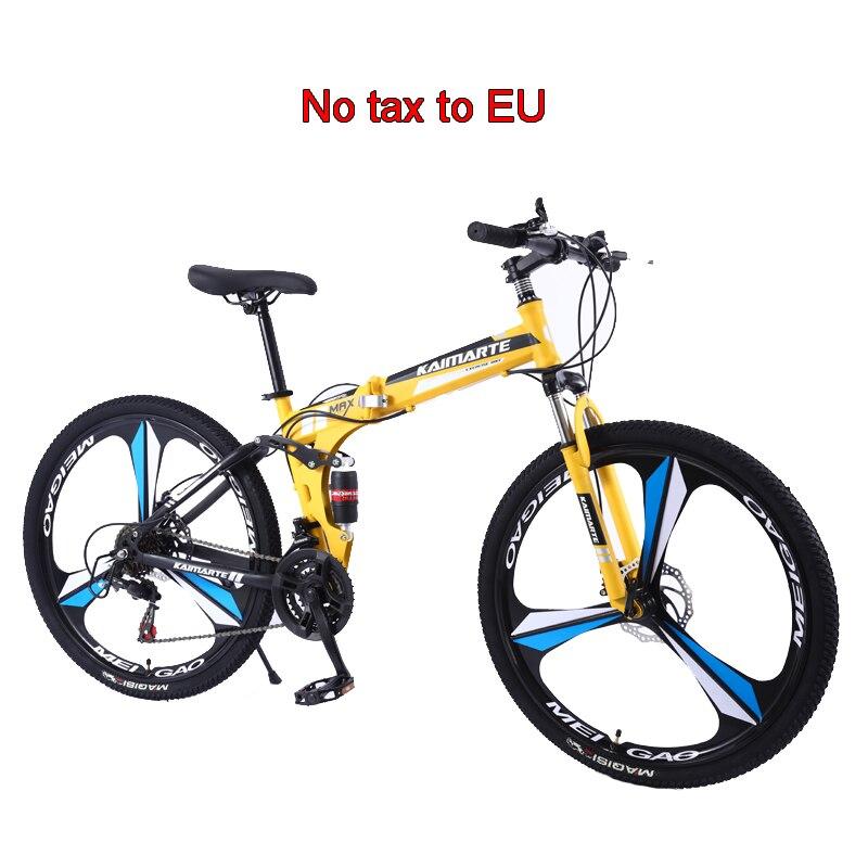 Складной горный велосипед, 27 скоростей, 24/26 дюймов, с ножом, из высокоуглеродистой стали, для мужчин и женщин, студенческий