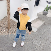 2019 new autumn clothing children coats zipper jacket baby boy long sleeve color matching jacket casual fashion Kids girls coat цены онлайн