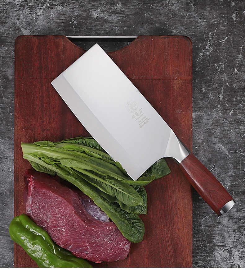 DENG Messer 9Cr18Mov Stahl Mahagoni Griff Chinesischen Hochwertigen Koch Messer Handgemachte Gemüse und Fleisch Edelstahl Küchenmesser