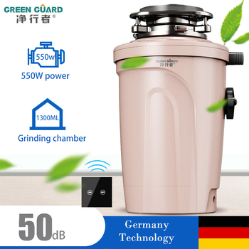 Smart Food waste disposer Low Noise Large Capacity Grinder Food residue processor crusher Wireless Switch kitchen appliances new kitchen food garbage processor disposal crusher food waste disposer stainless steel grinder material kitchen sink appliance