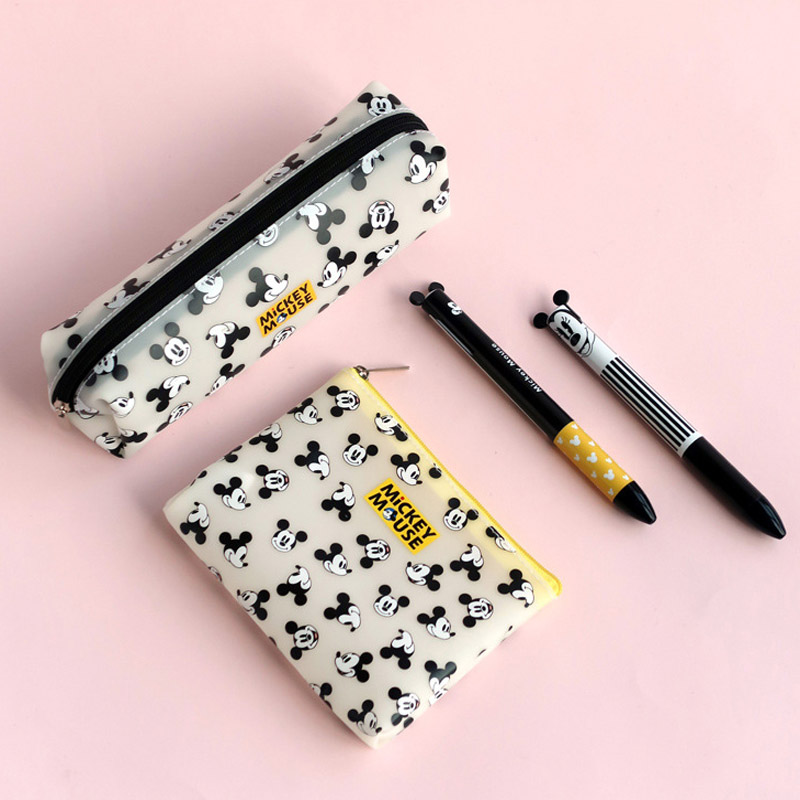 1 Pc Disney Mickey Minnie Mouse Portable Cute Coin Purse Multi-purpose Storage Pencil Bag Cartoon Purse Handbag Pencil Case