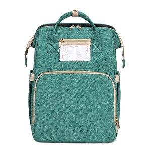 Модная сумка для мам многофункциональная сумка для подгузников рюкзак Детская сумка коляска с заботой о ребенке портативная складная сумк...