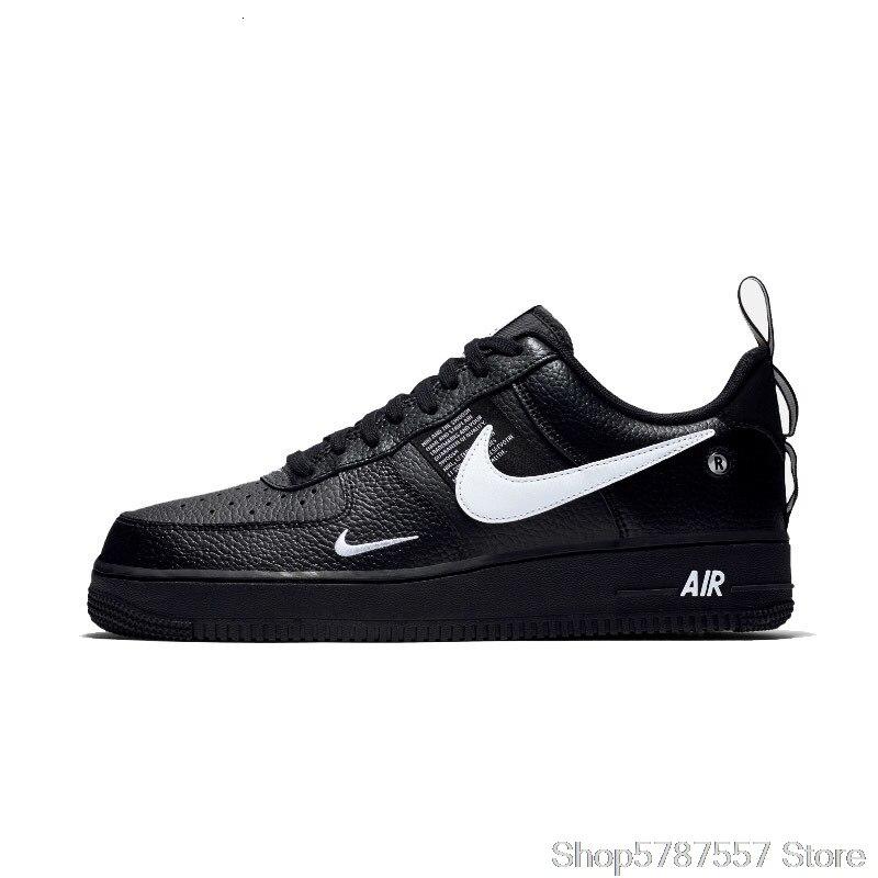 Nike Air Force 1 In Pelle Originale degli uomini di Scarpe Da Pattini E Skate Confortevole All'aperto scarpe Da Tennis di Sport # AJ7747