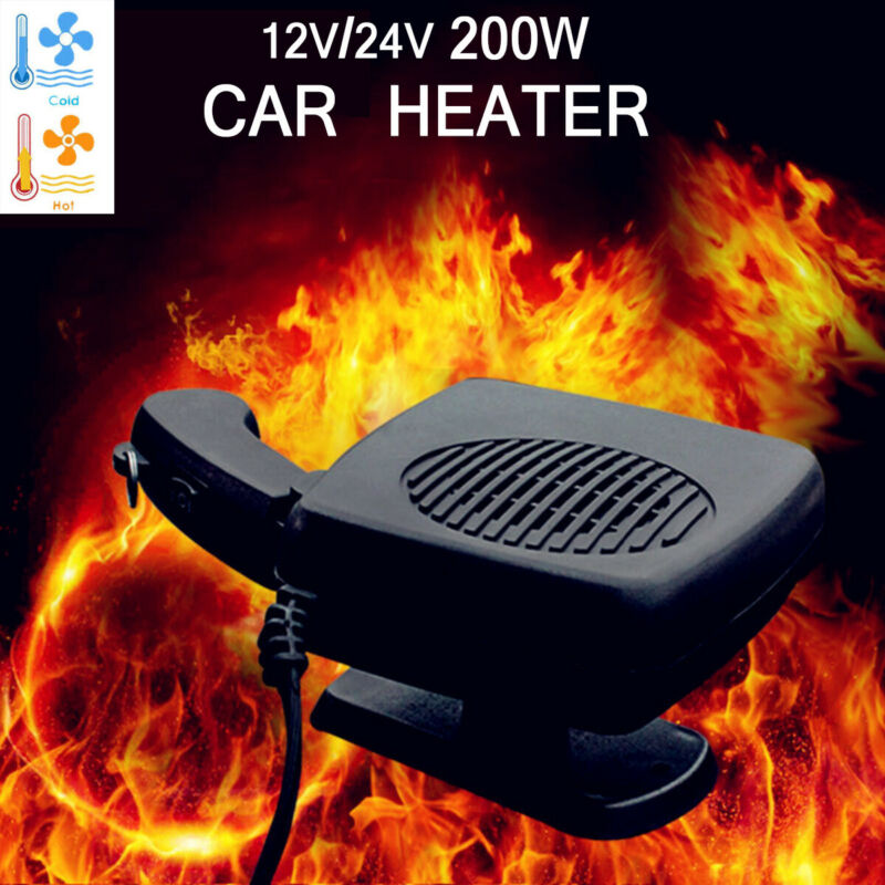 12V/24V 200W Car Heater Cooler Demister Windscreen Screen Defroster Dash The Best Heating Winter