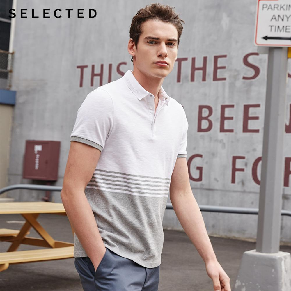 SELECTED Cotton Regular Fit Short-sleeved Turn-down Collar Poloshirt S|419206558