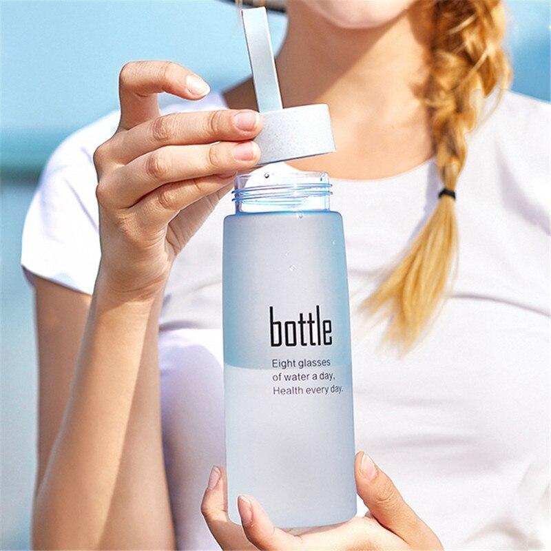 Plastic Water Bottle BPA Free Sport Scrub Drinking My Bottle Portable Drinkware Outdoor Tour Bottles for Lovers Kids 520ml