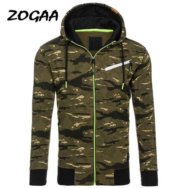 ZOGAA 가을 망 군사 위장 재킷 육군 전술 의류 남성용 윈드 브레이커 지퍼 폴리 에스테르 남성 까마귀 자켓 코트