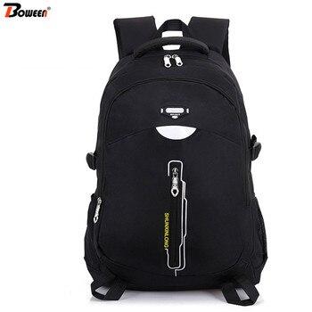 цена на Waterproof Nylon Teenage Boys School Bags for Girls Backpack Men Large Capacity High Student Schoolbag Women Bookbags Teen Black