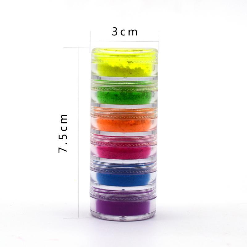 6 Colors/lot Mixed Neon Eyeshadow Powder Matte Mineral Sequin Eye Shadow Palette Easy To Apply Waterproof Eyeshadow Mskeup TSLM1 5